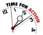 time for action (clock)