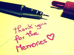 Thank you for the memories post-it